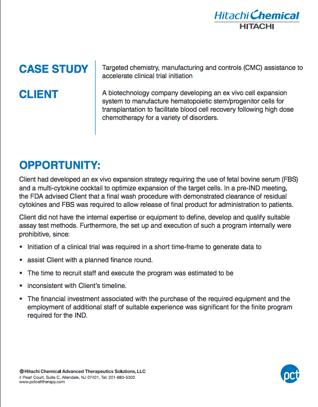 Assay Development Residuals Clearance Detection Case Study
